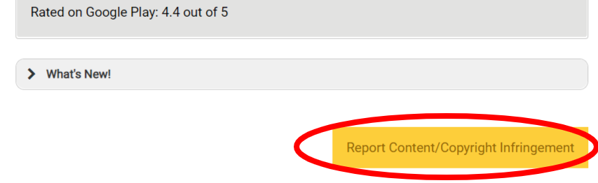 Report content button