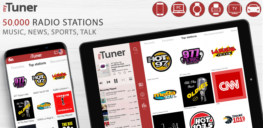myTuner Radio and Podcasts Pro Banner