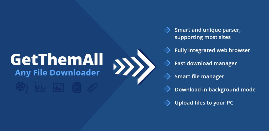 GetThemAll Any File Downloader Banner