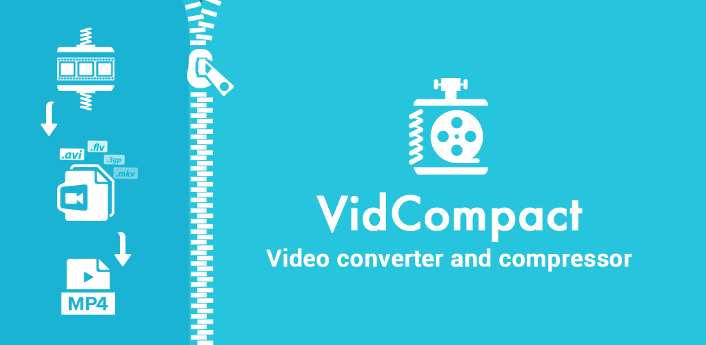 VidCompact Pro - Video to MP3 Converter & Compressor Banner
