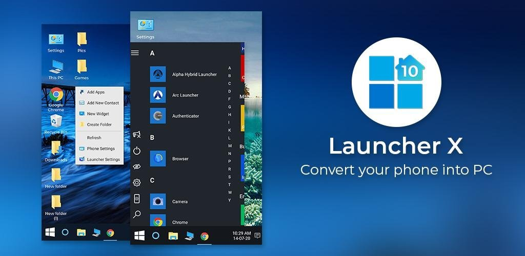 Computer Launcher Win 10 Launcher Free – No Ads Cover
